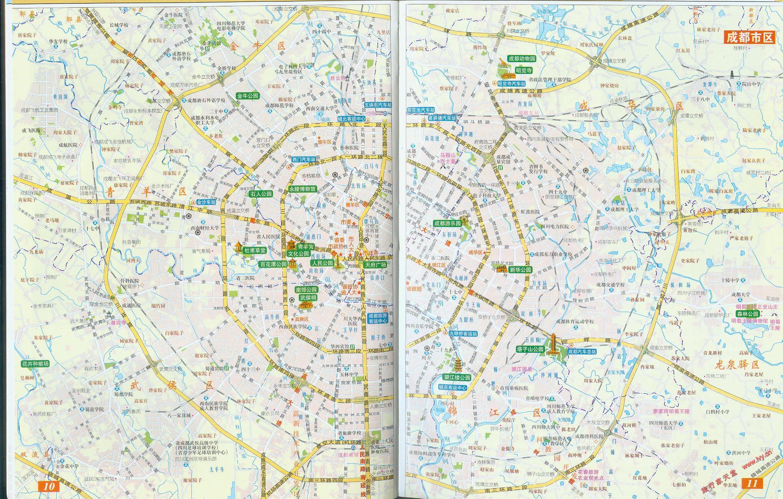 最新2004版成都市区交通地图图片