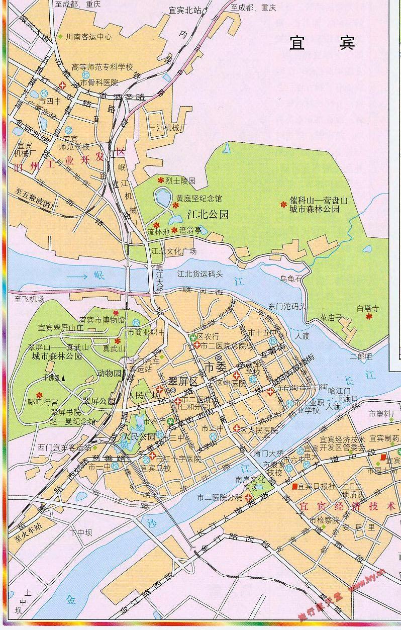 宜宾市市区地图