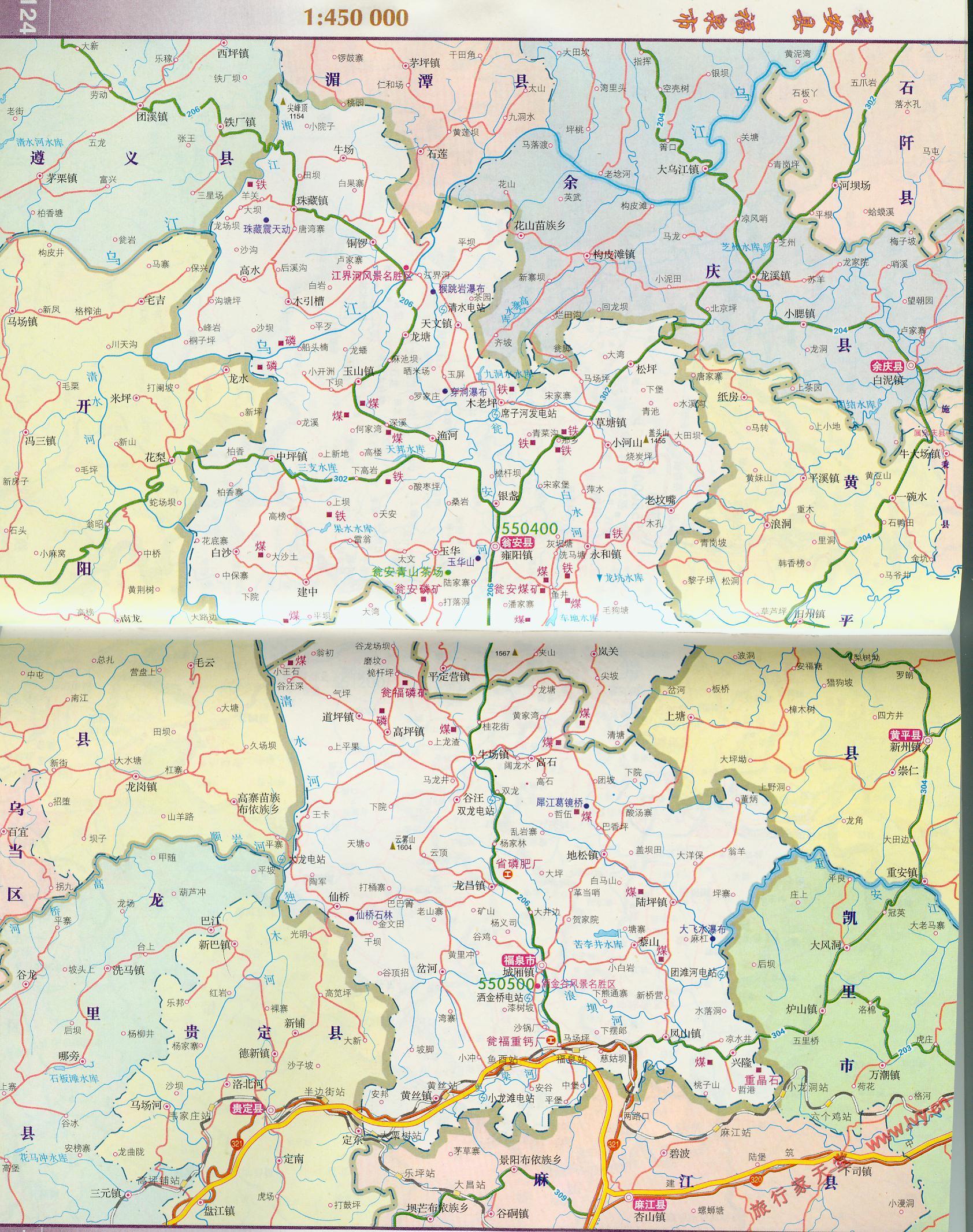 福泉市行政交通地图图片