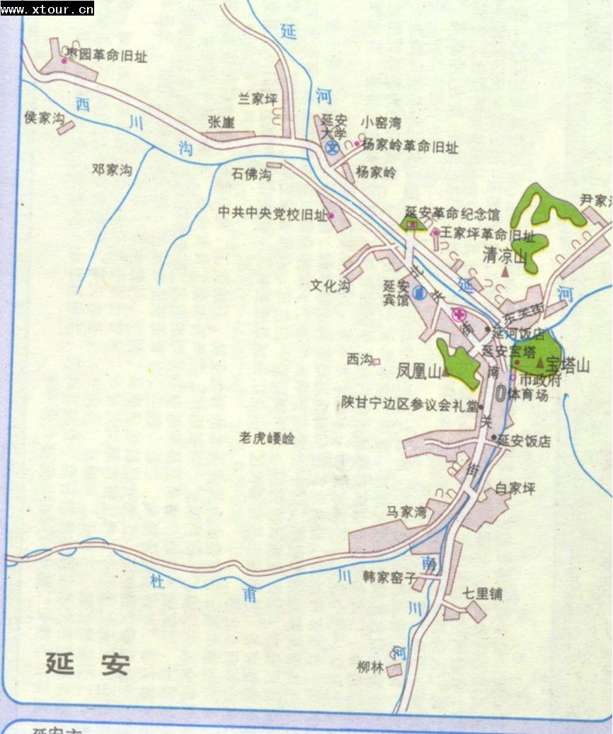 延安市区地图_延安市地图查询