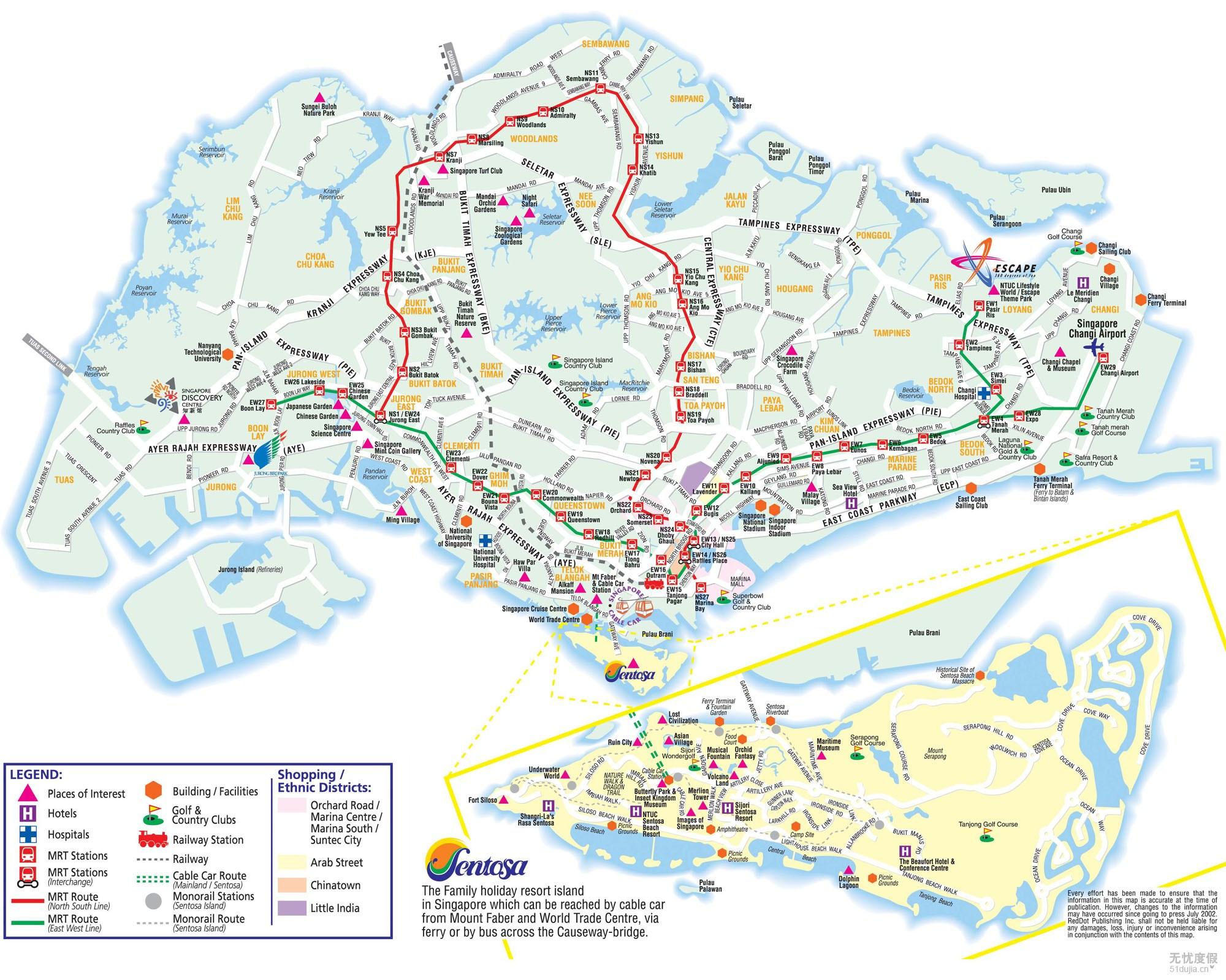 新加坡地图 新加坡旅游地图 新加坡 旅游景点