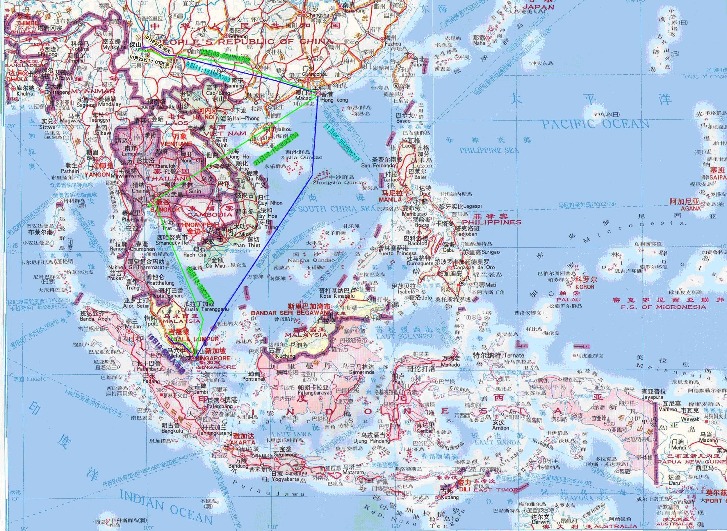 地图库 世界地图 亚洲 马来西亚 >> 马来西亚地图中文版