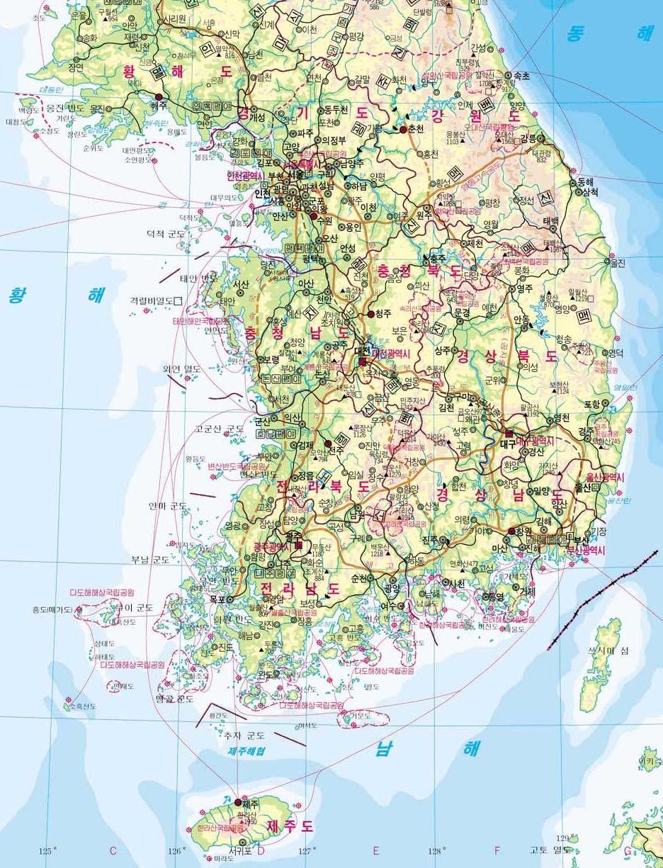 地图库 世界地图 亚洲 朝鲜 >> 朝鲜地图韩语版
