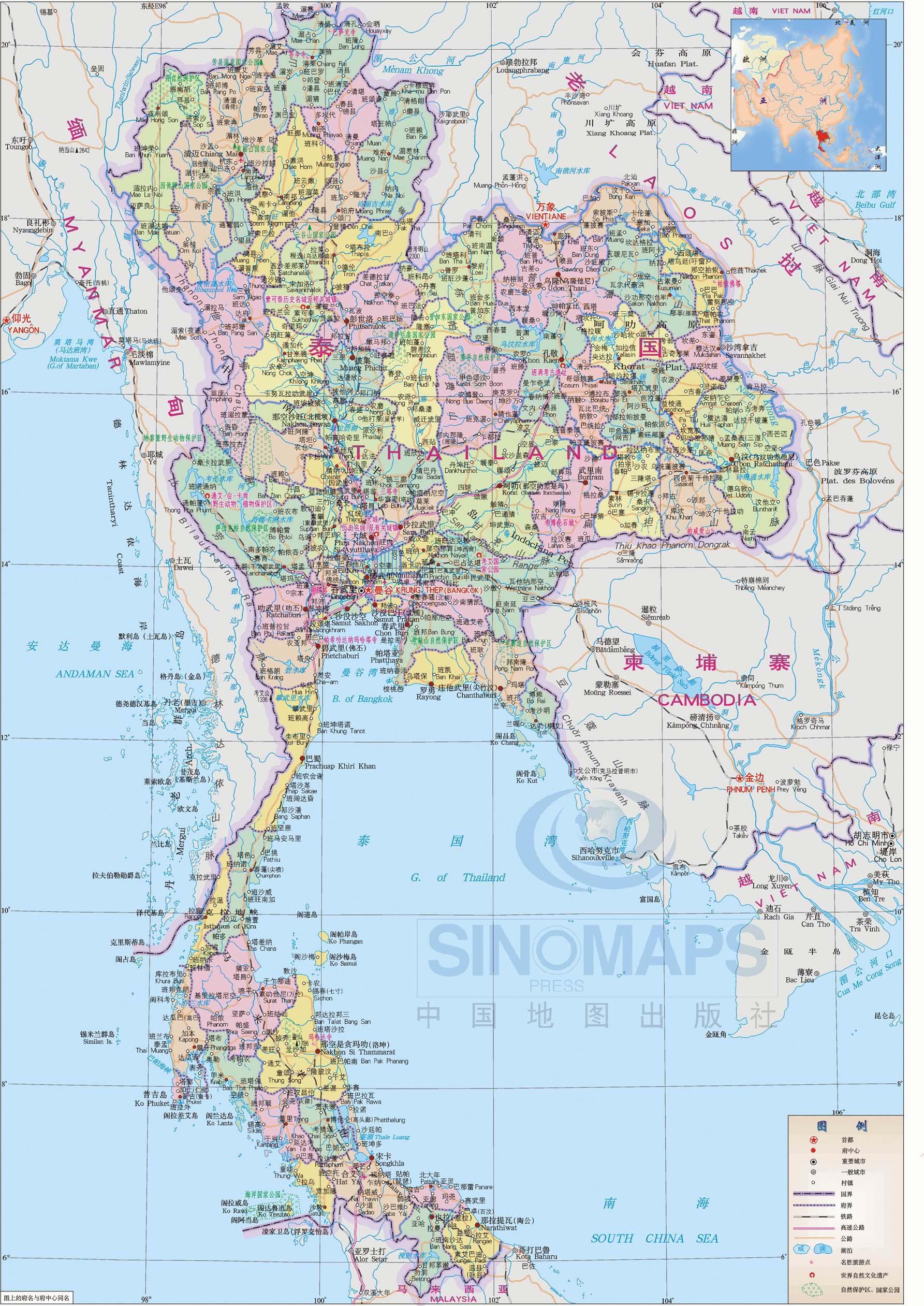 泰国普吉岛地图中文