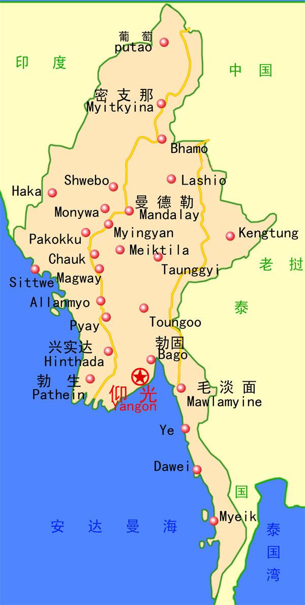 黎巴嫩地图_缅甸旅游地图_缅甸地图库_地图窝
