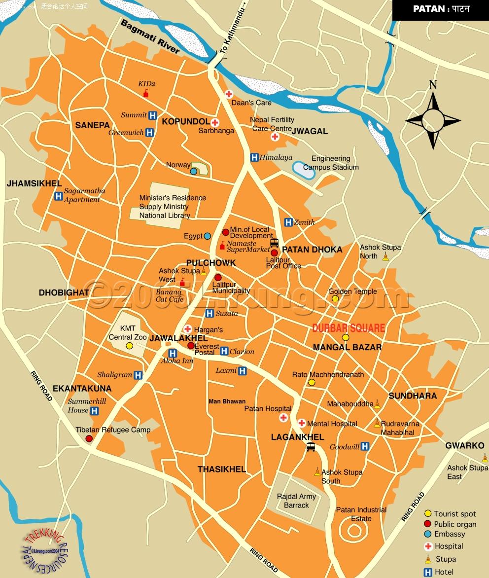 尼泊尔地图英文版