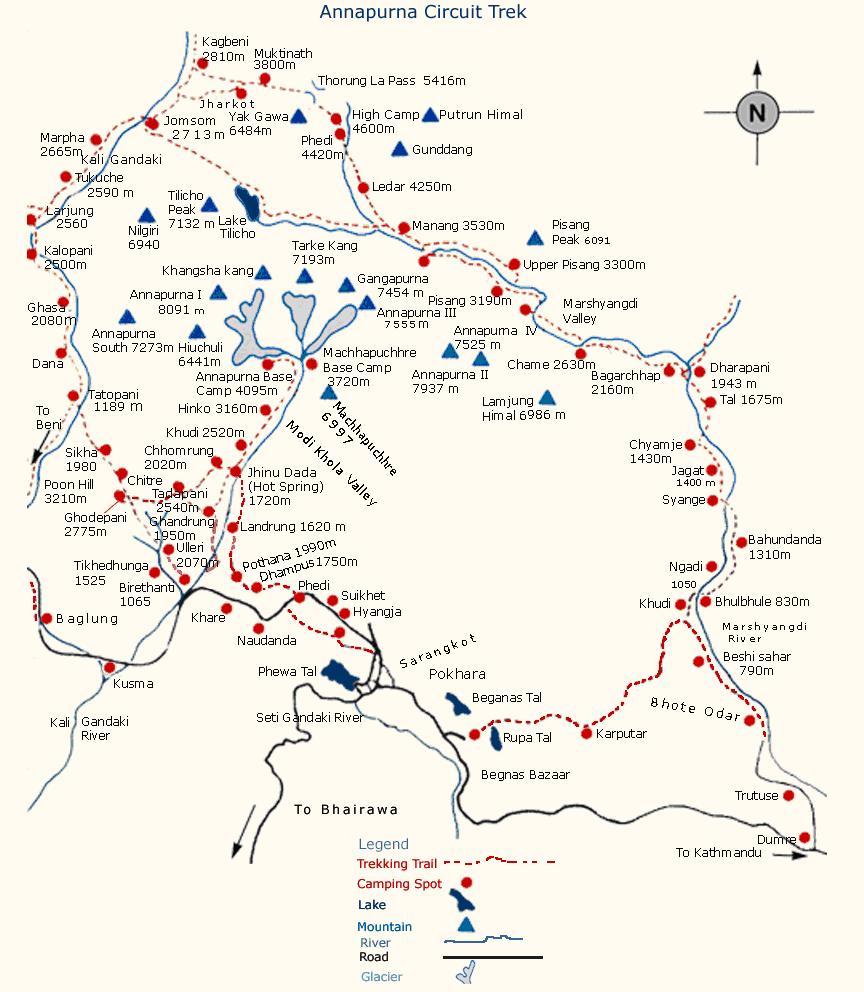 尼泊尔地图_尼泊尔徒步地图英文版_尼泊尔地图库_地图窝