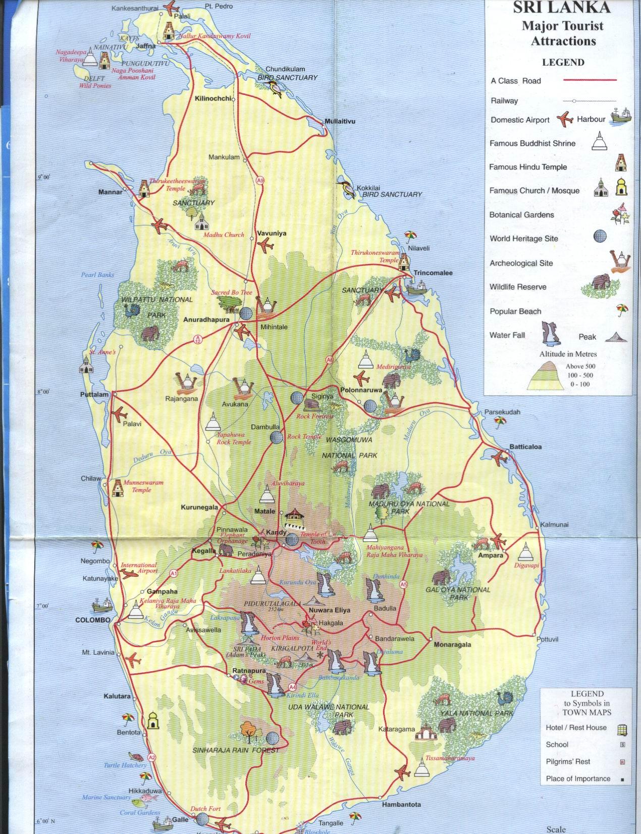 斯里兰卡旅游地图_斯里兰卡地图查询