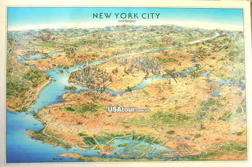 纽约地图 美国地图库
