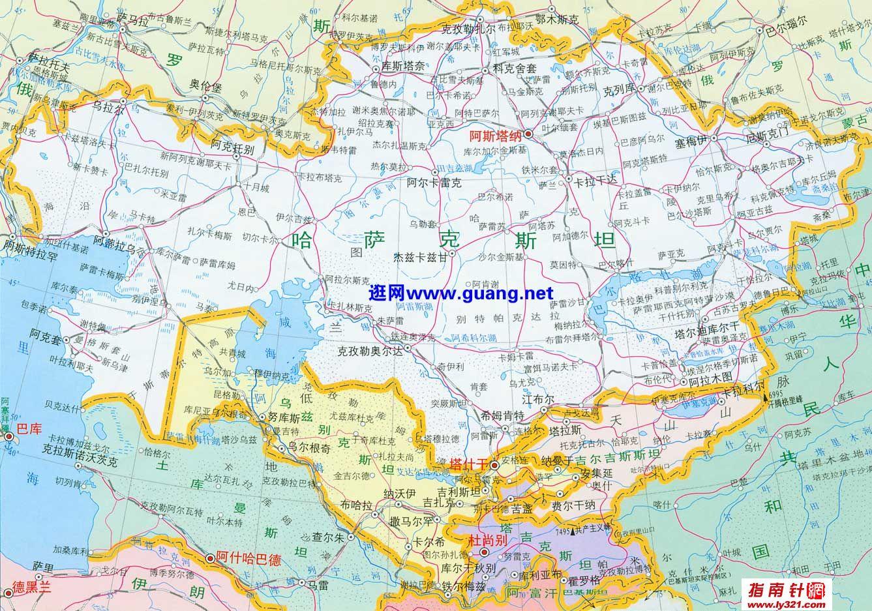 哈萨克斯坦地图中文图片