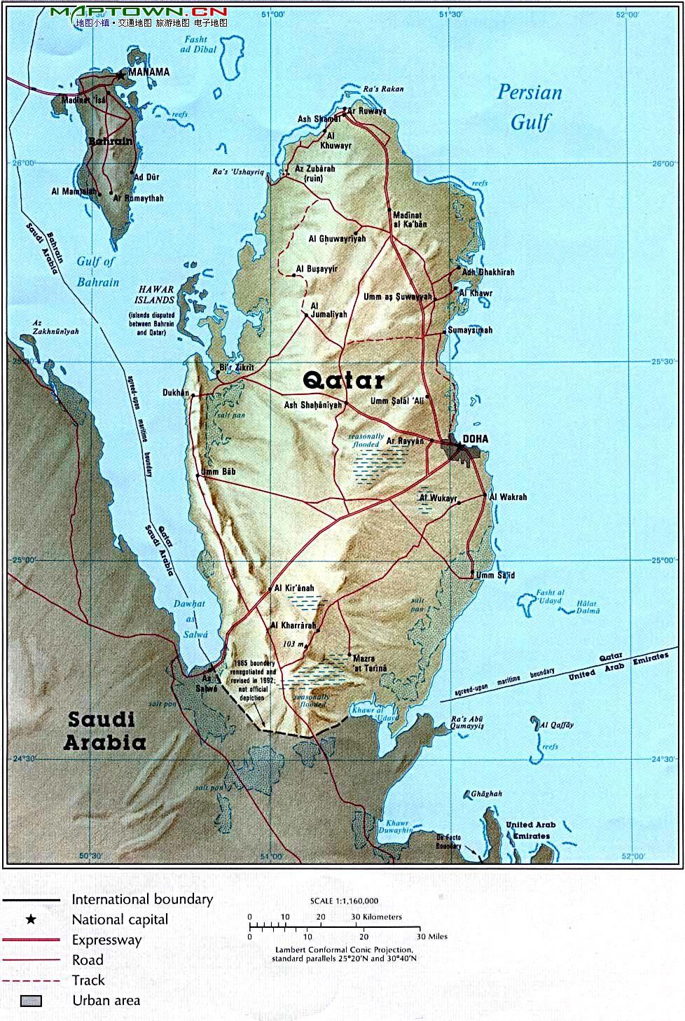 卡塔尔地图英文_卡塔尔地图查询