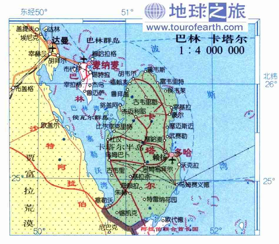 卡塔尔地图中文_卡塔尔地图查询