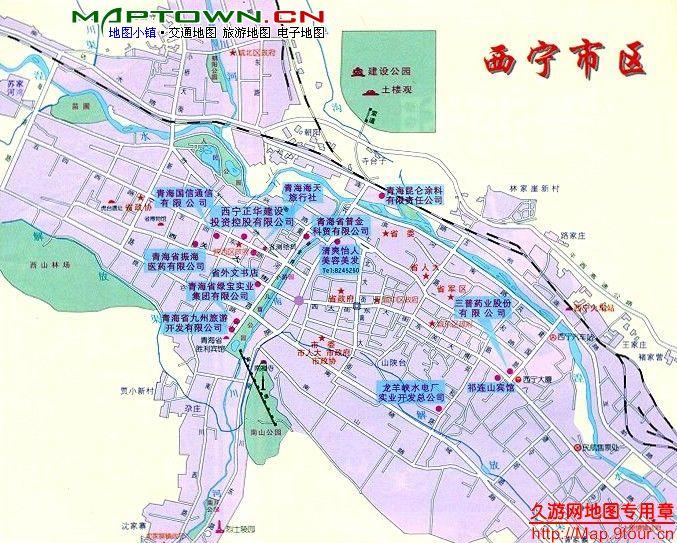 西宁市区地图图片