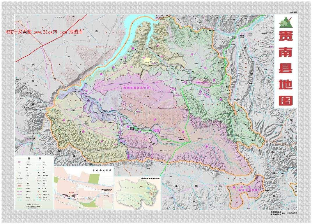 海南州地图查询