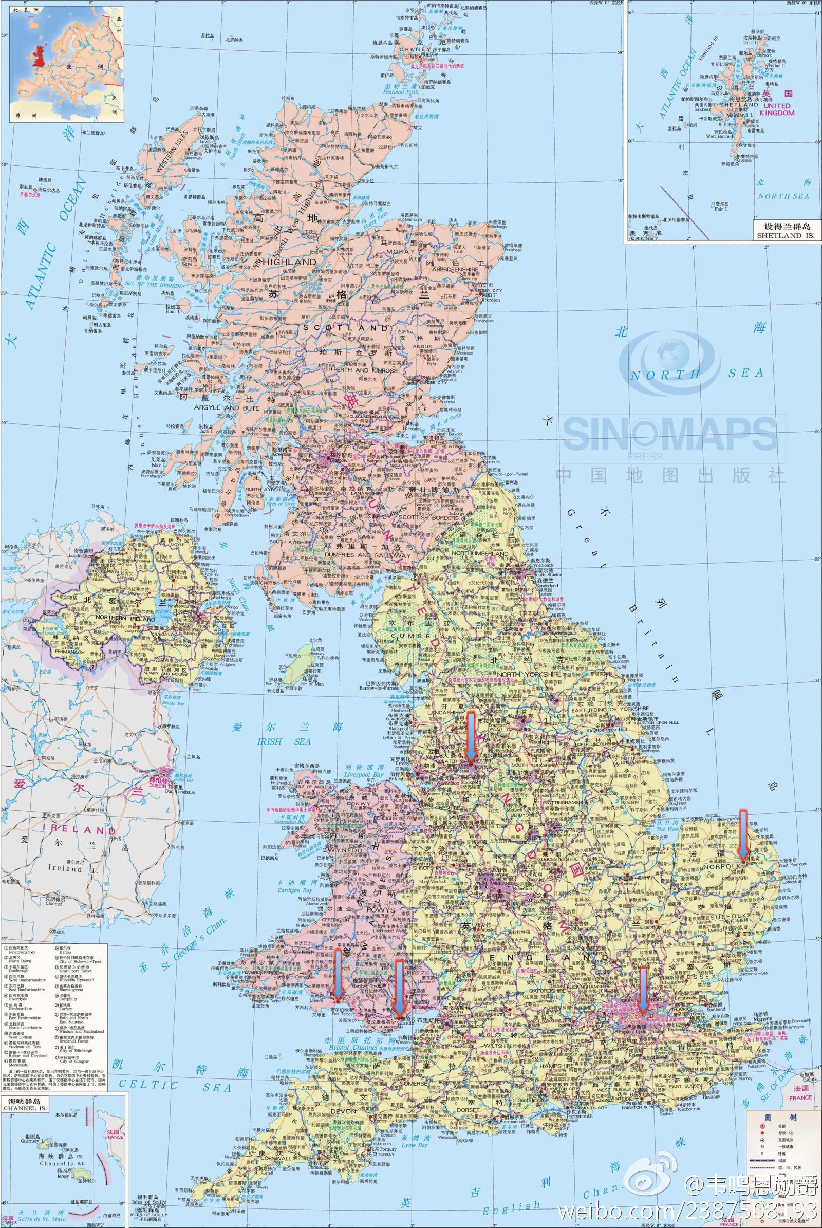 英国伦敦市区地图中文版