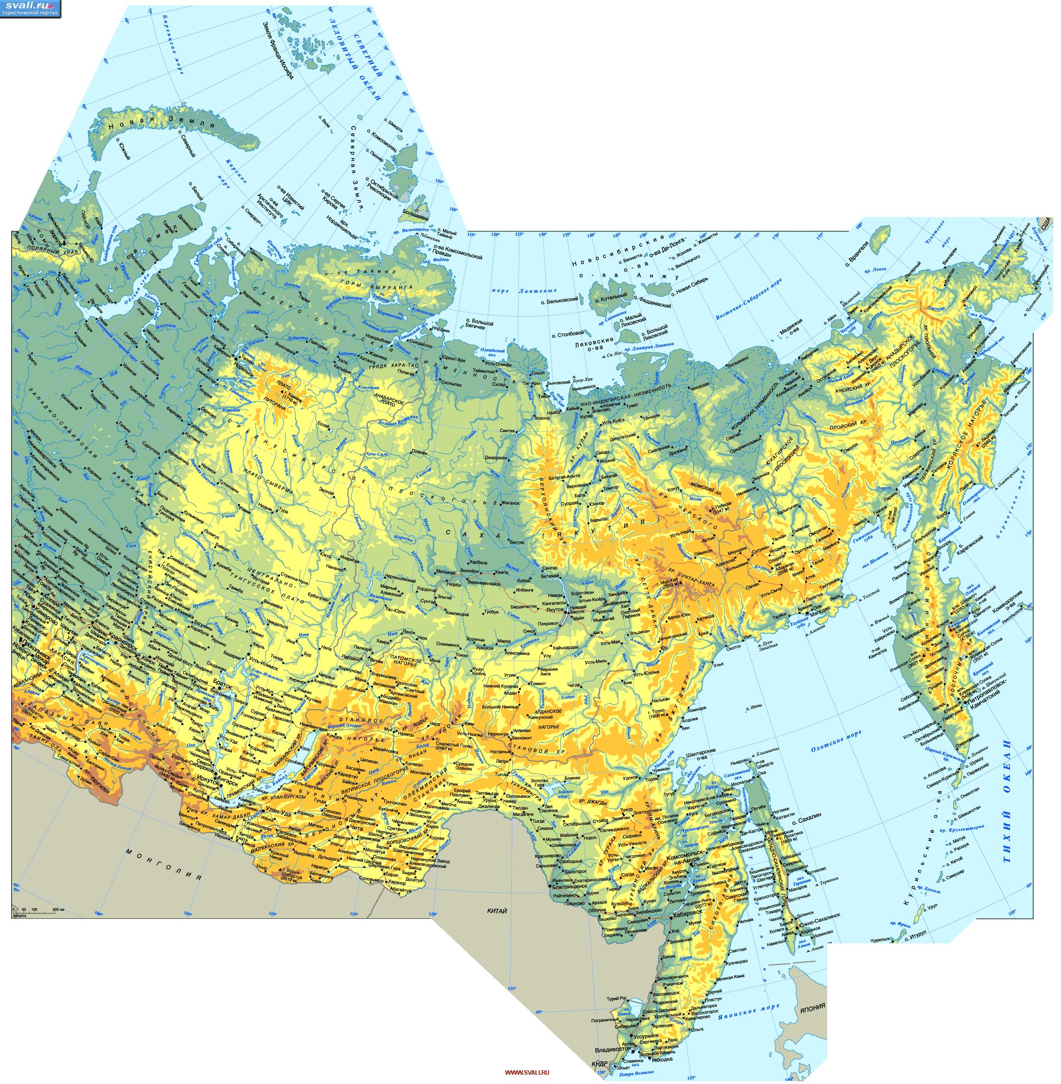 俄罗斯地图英文版