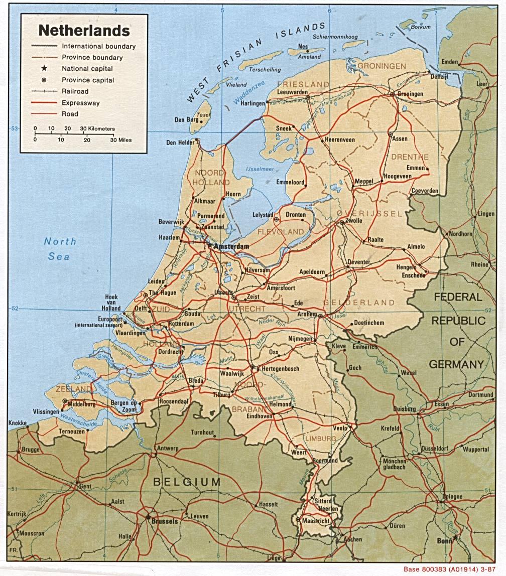 卢森堡地图英文版