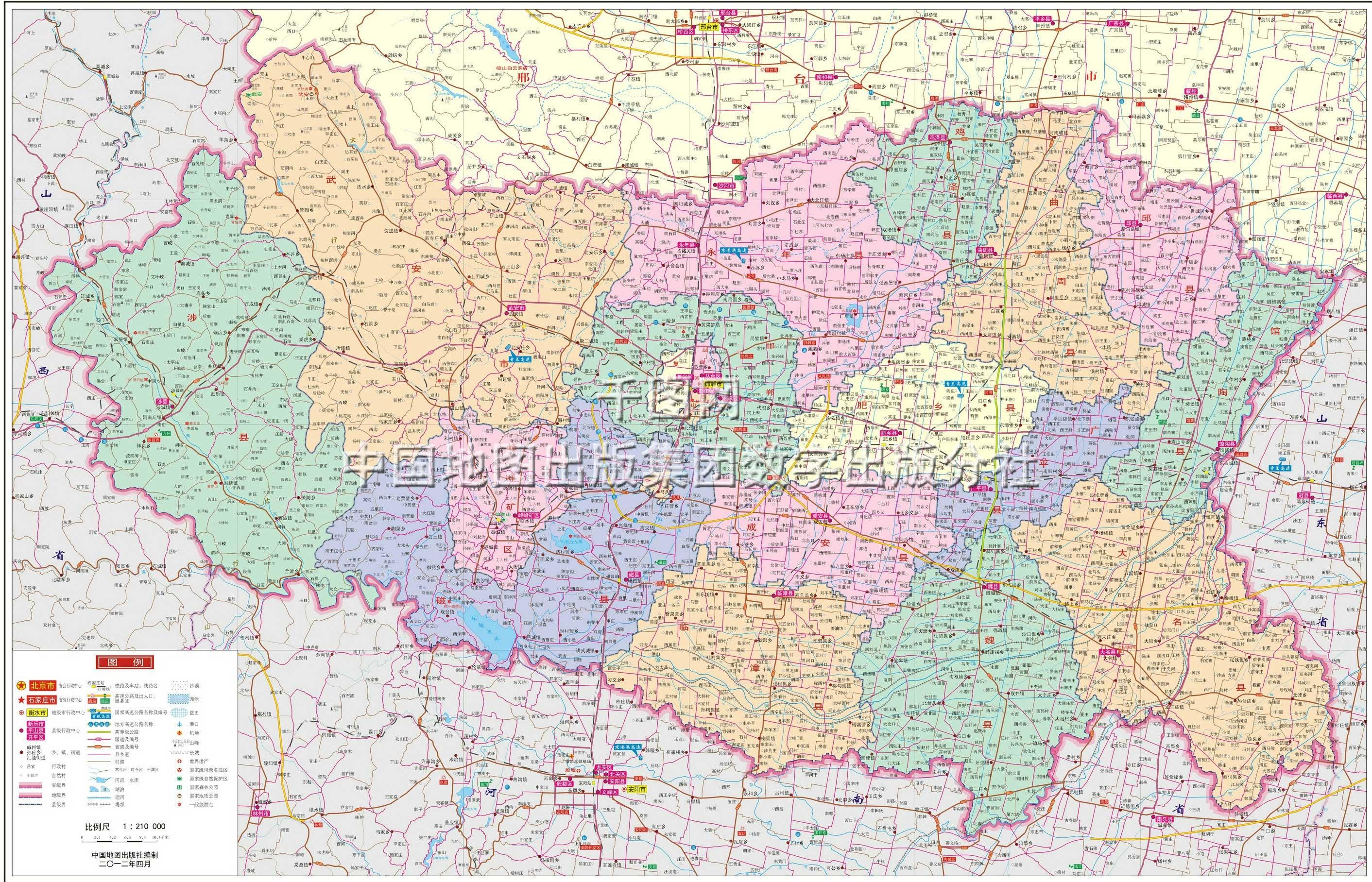 邯郸市地图高清版
