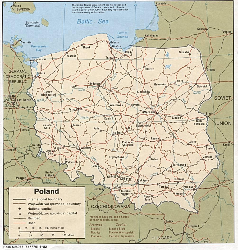 波兰英文全图_波兰地图查询