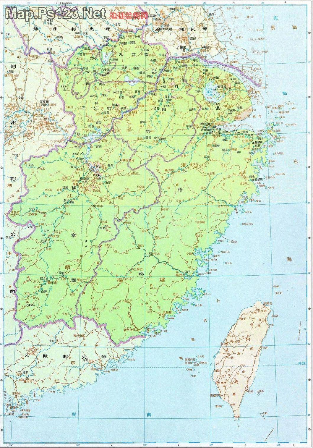 历史地图:扬州刺史部