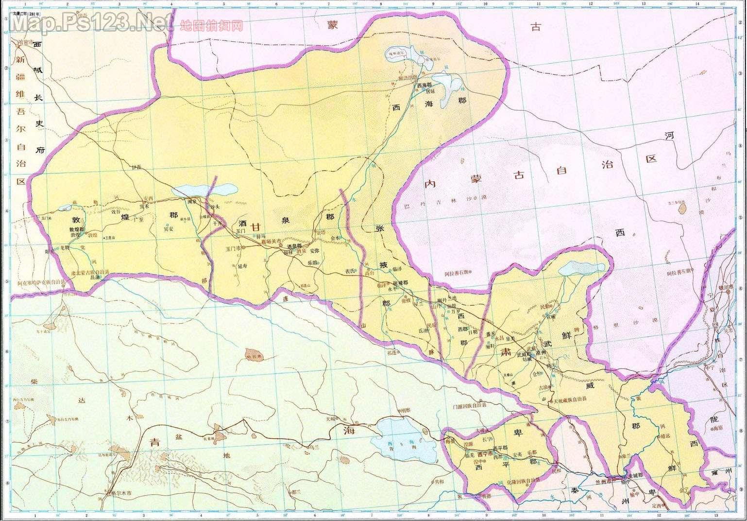 历史地图:凉州(西晋)