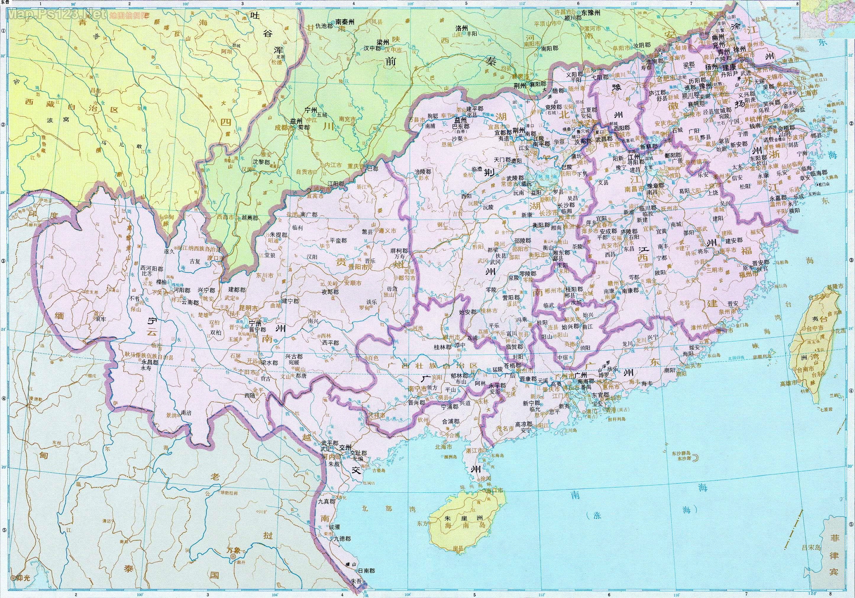 历史地图:东晋图片