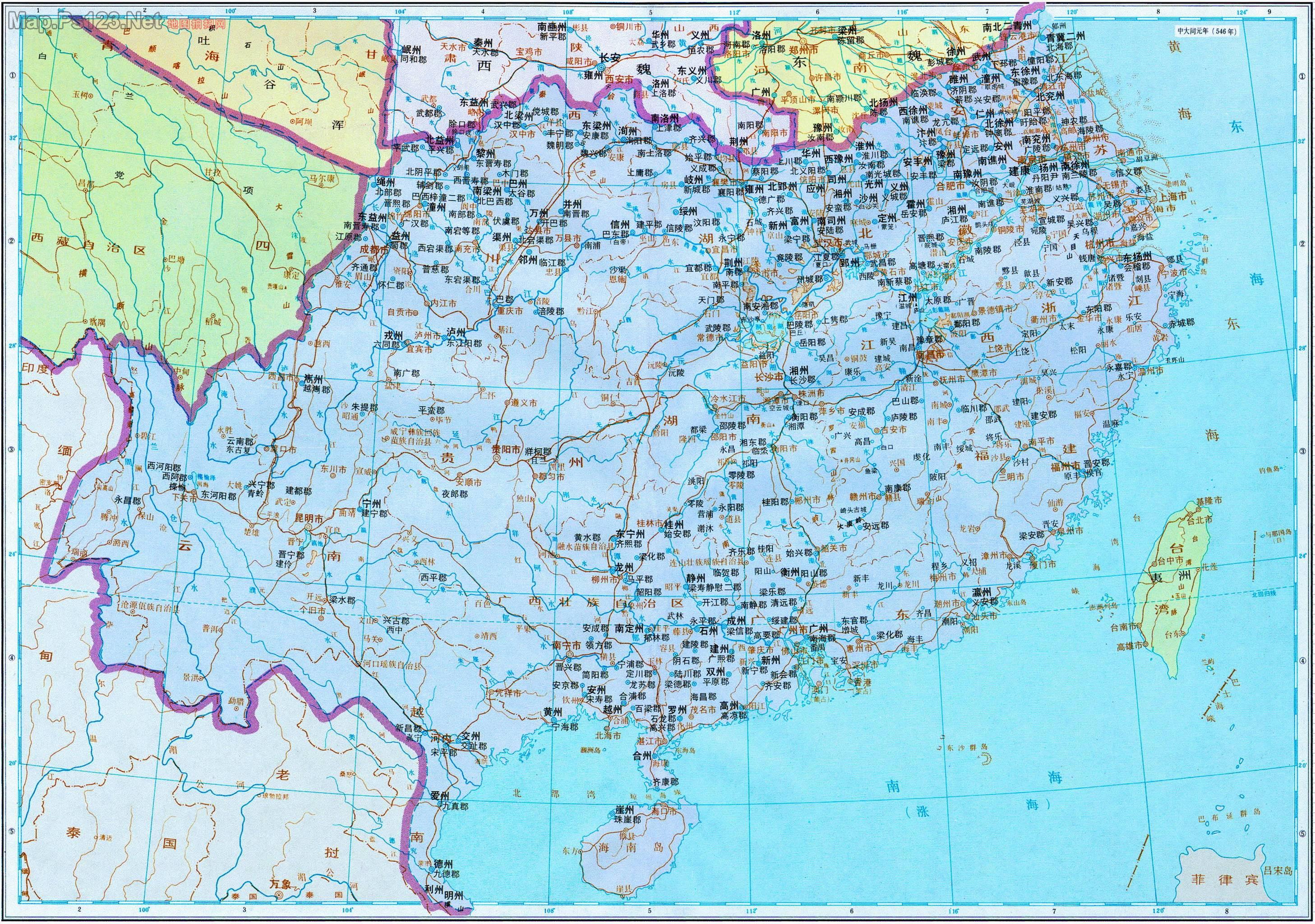 历史地图:梁(南北朝)_中国史稿地图地图库_地图窝图片