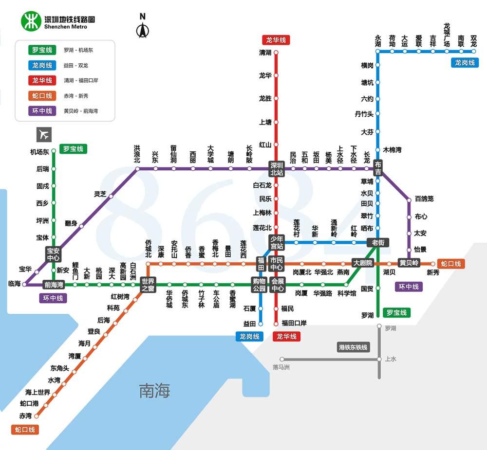 深圳地铁线路图全图图片