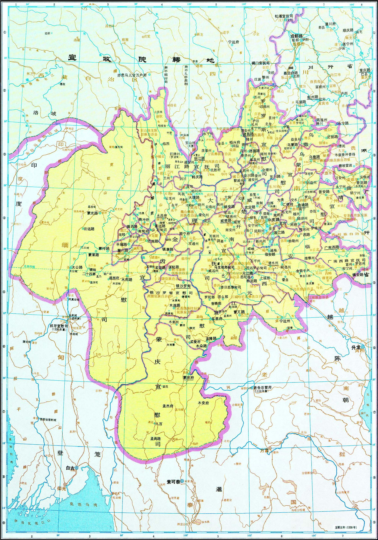 云南省地图全图_历史地图:云南行省(元)_中国史稿地图地图库_地图窝