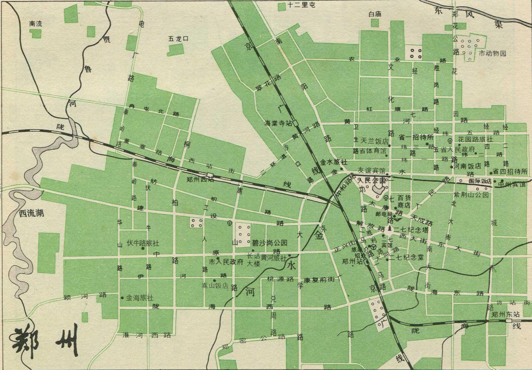 郑州市铁路线路图