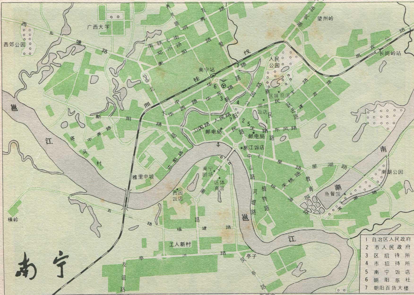 南宁市铁路线路图