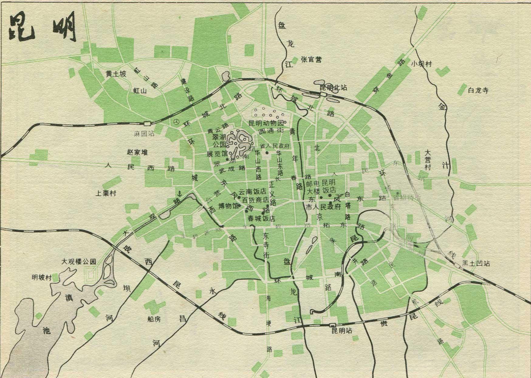 昆明市铁路线路图_铁路线路图地图查询