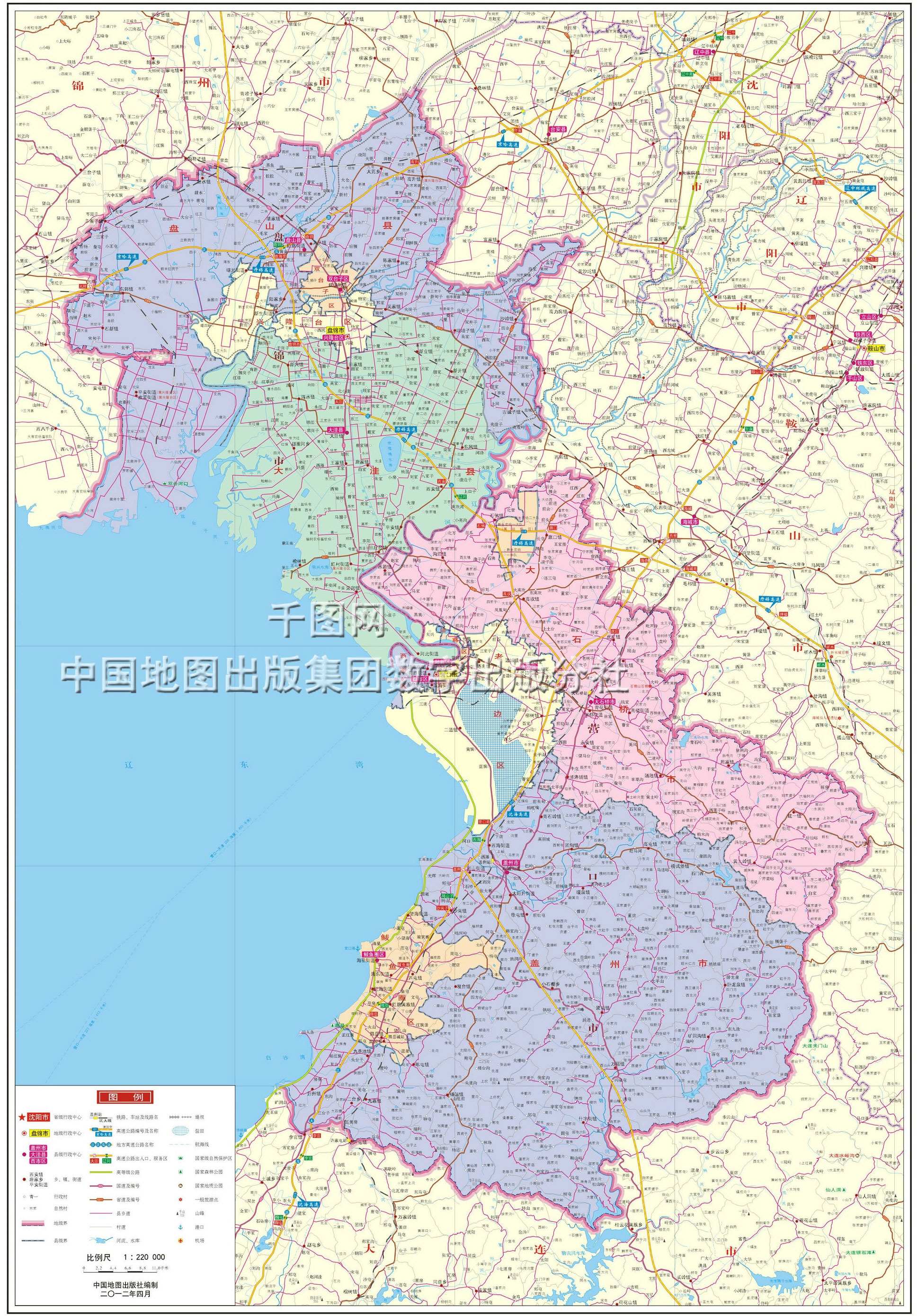 盘锦市地图高清版_盘锦地图库