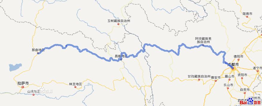 317国道线路地图