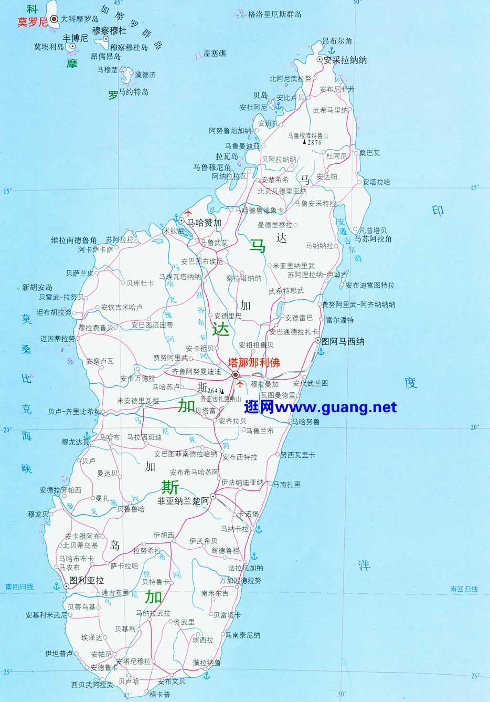 博茨瓦纳地图_马达加斯加高清中文地图_马达加斯加地图库_地图窝