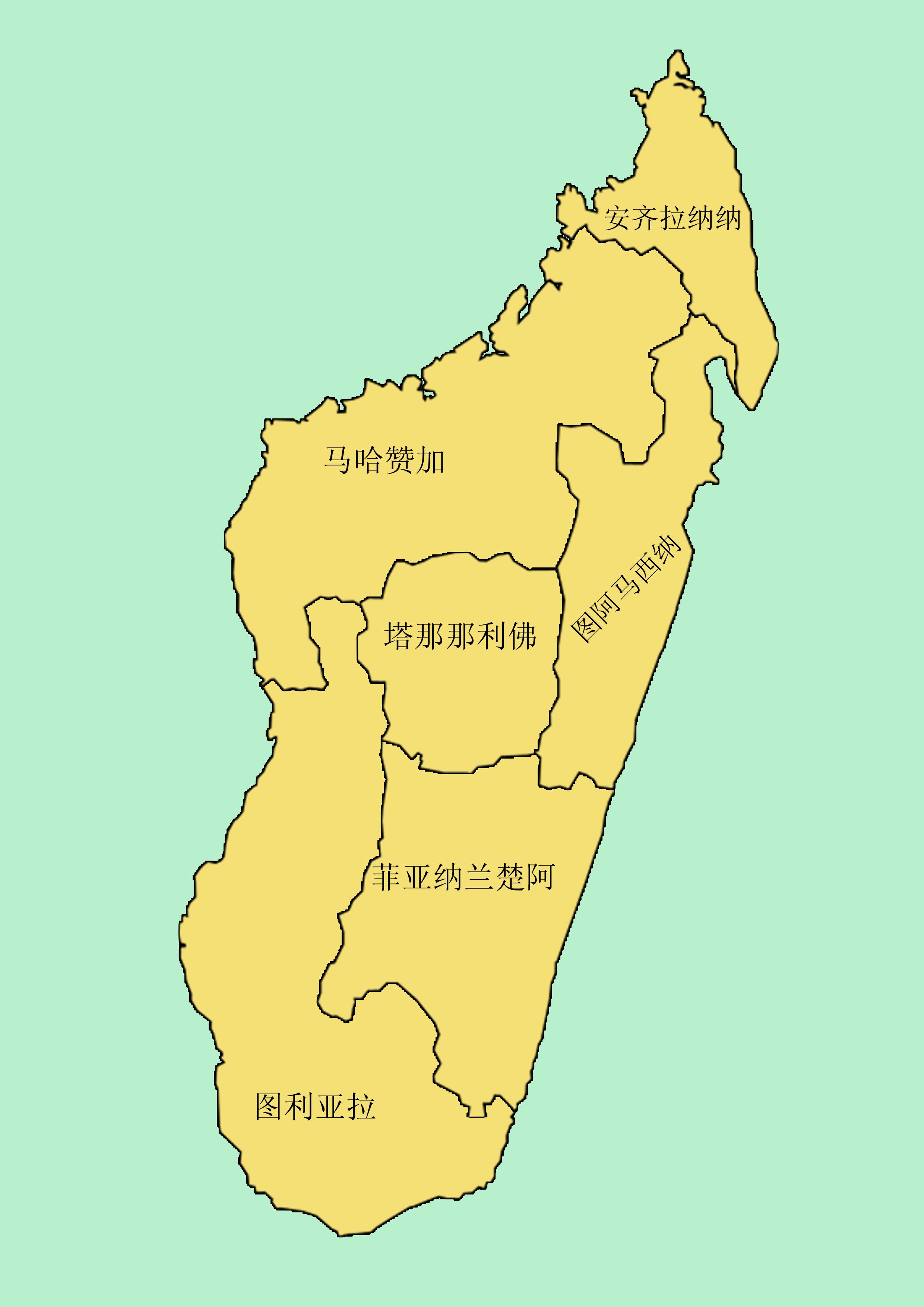马达加斯加行政区划图