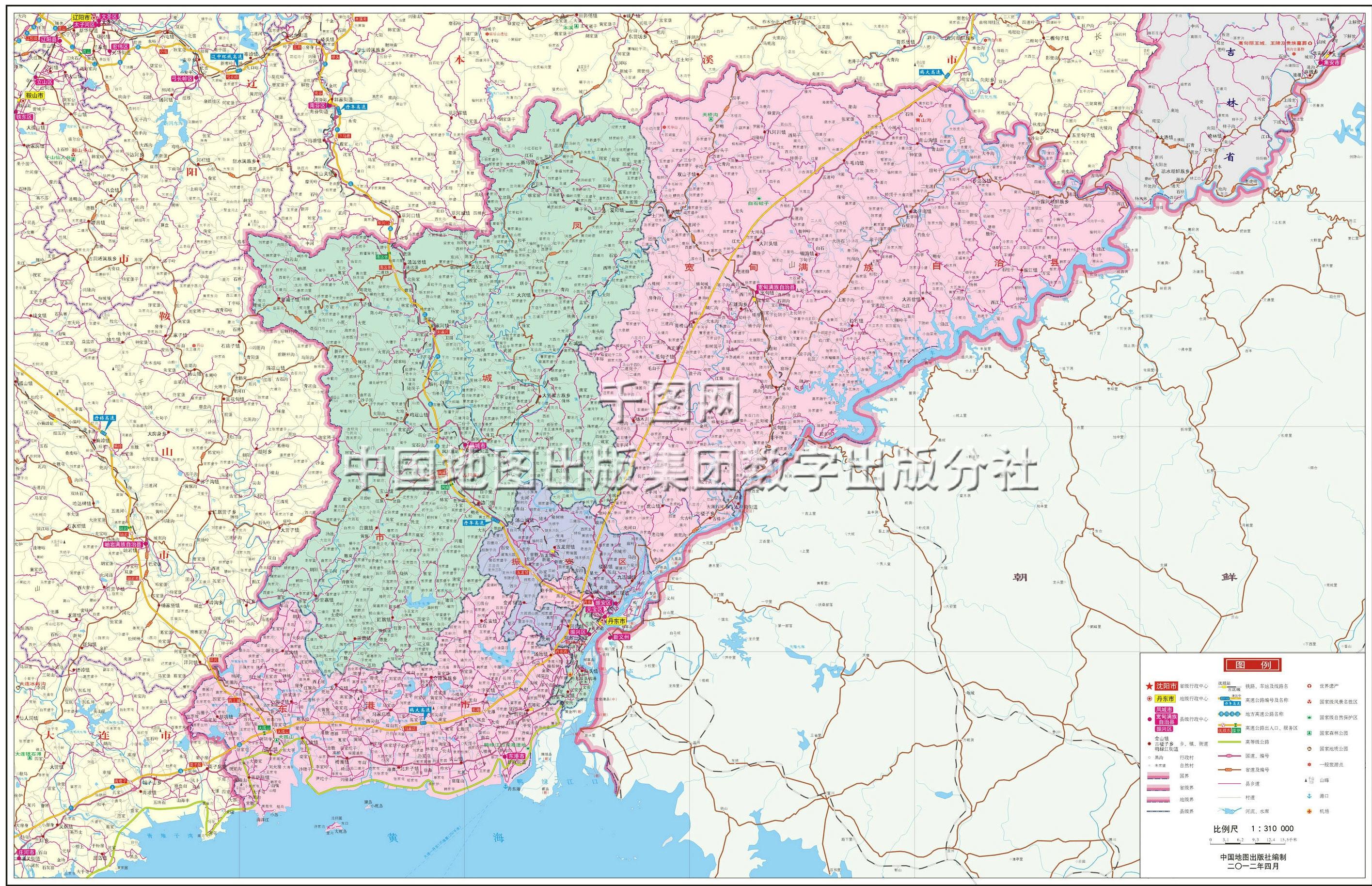 丹东市地图高清版