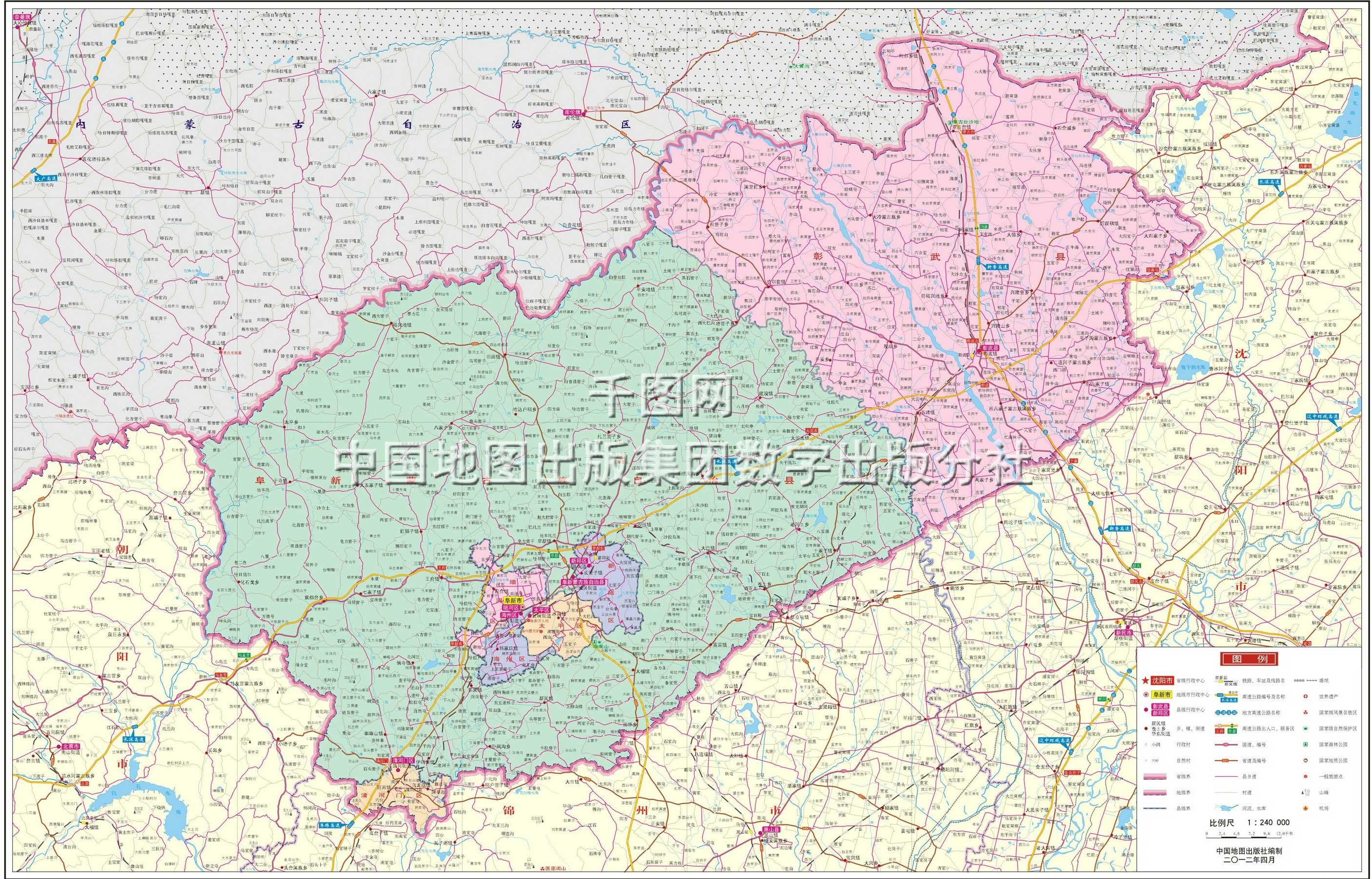 阜新市地图高清版图片