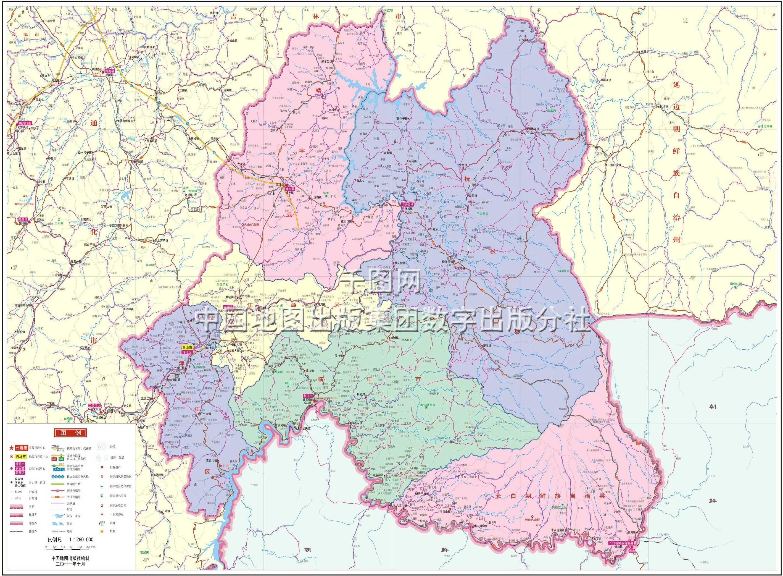 白山市地图高清版_白山地图库