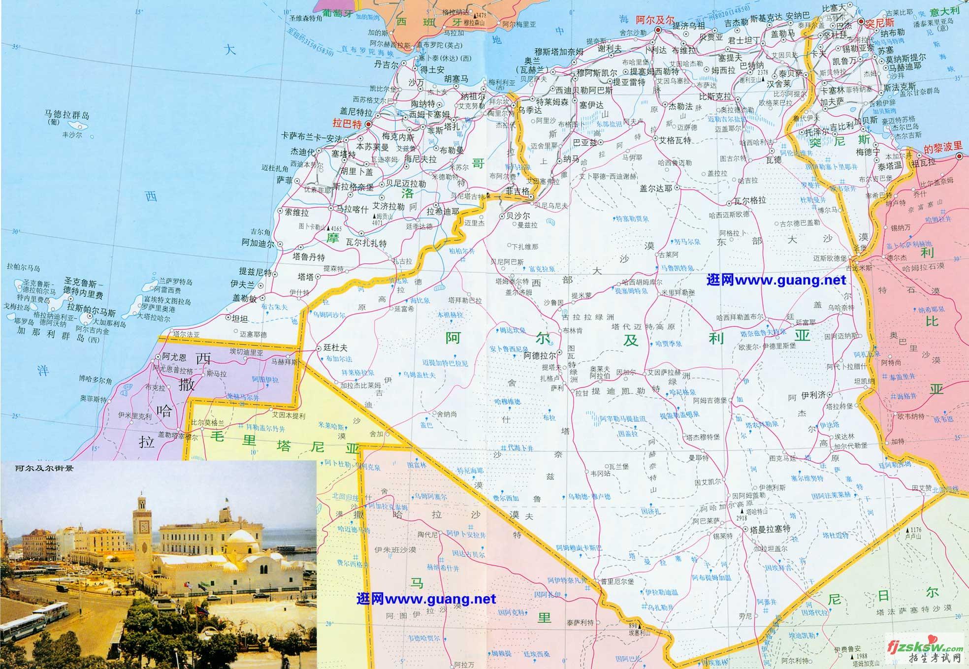 摩洛哥高清中文全图
