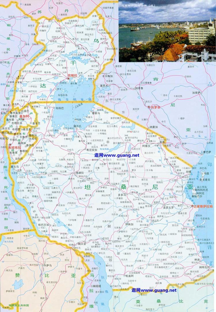 乌干达中文版地图