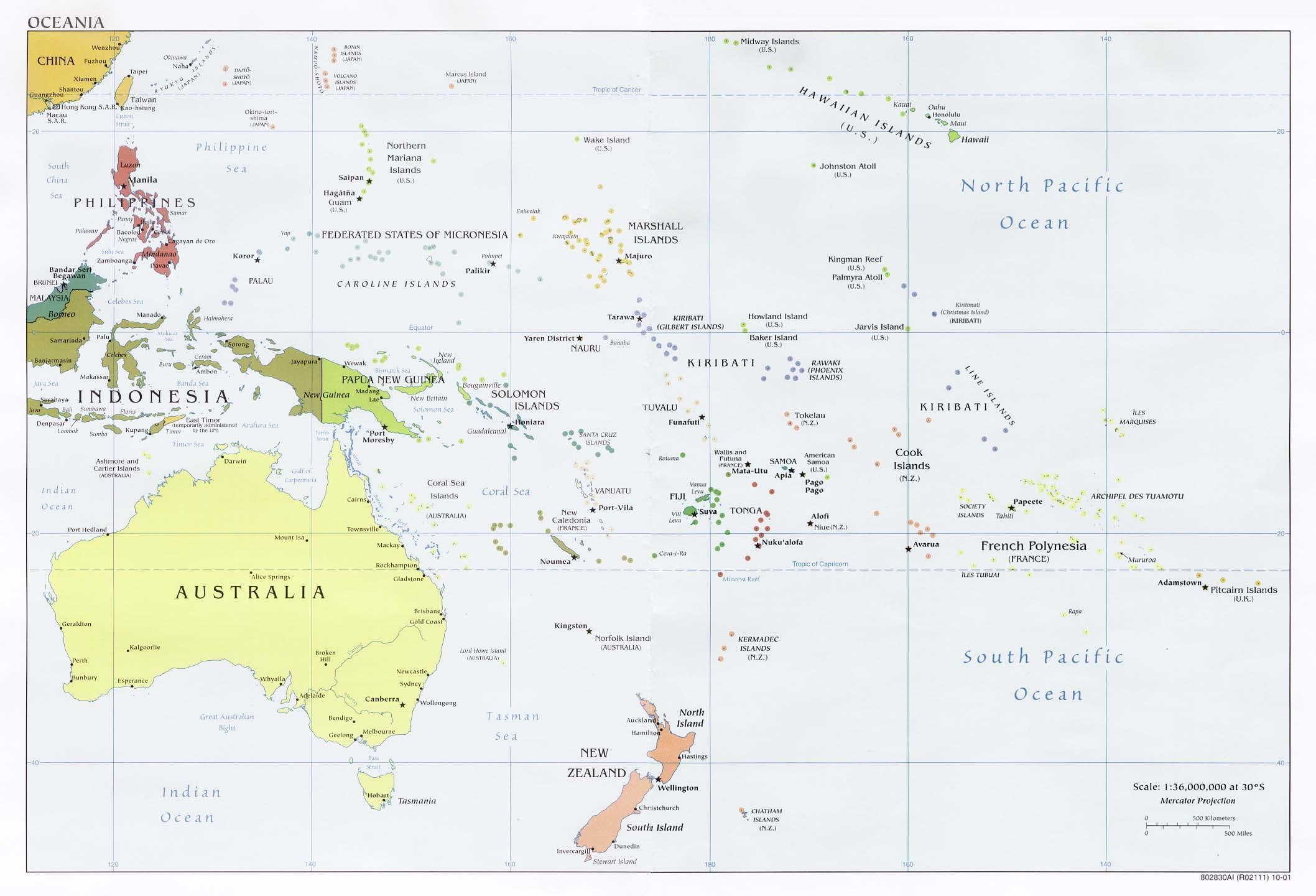 密克罗尼西亚联邦英文全图