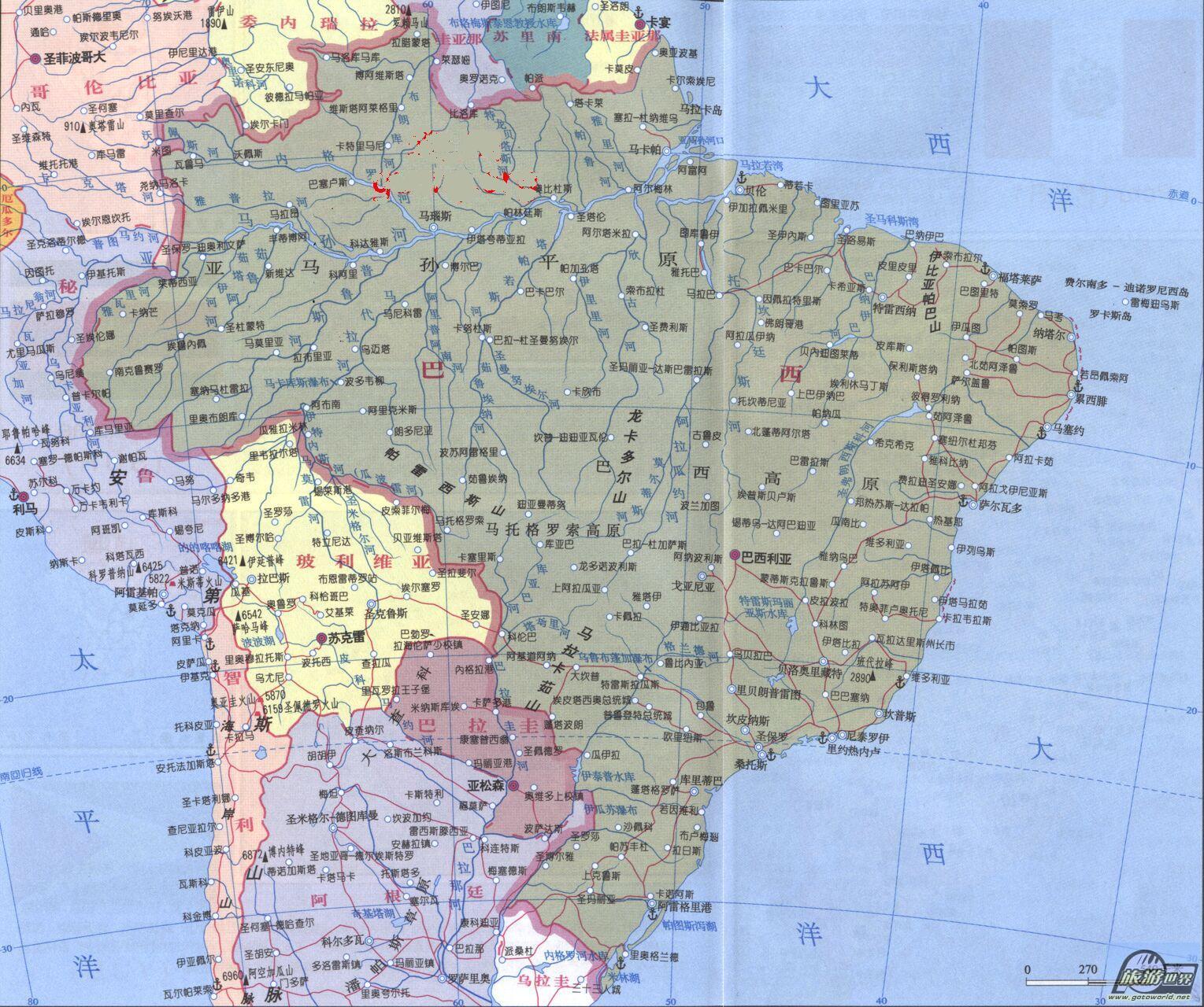 南美洲地图全图高清版_北美洲地图全图高清版