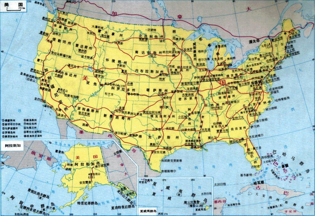 华盛顿地图中文_美国地图库_地图窝图片