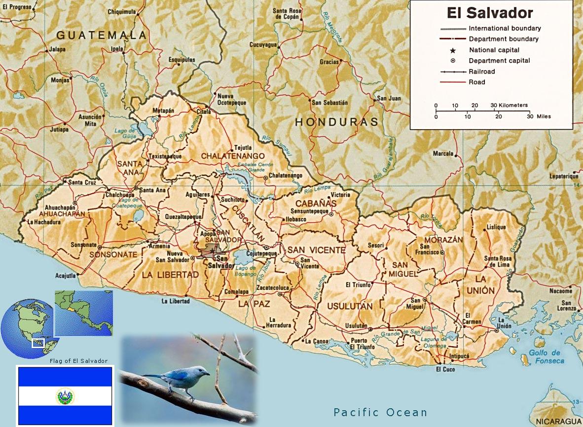 萨尔瓦多地图英文版_萨尔瓦多地图查询