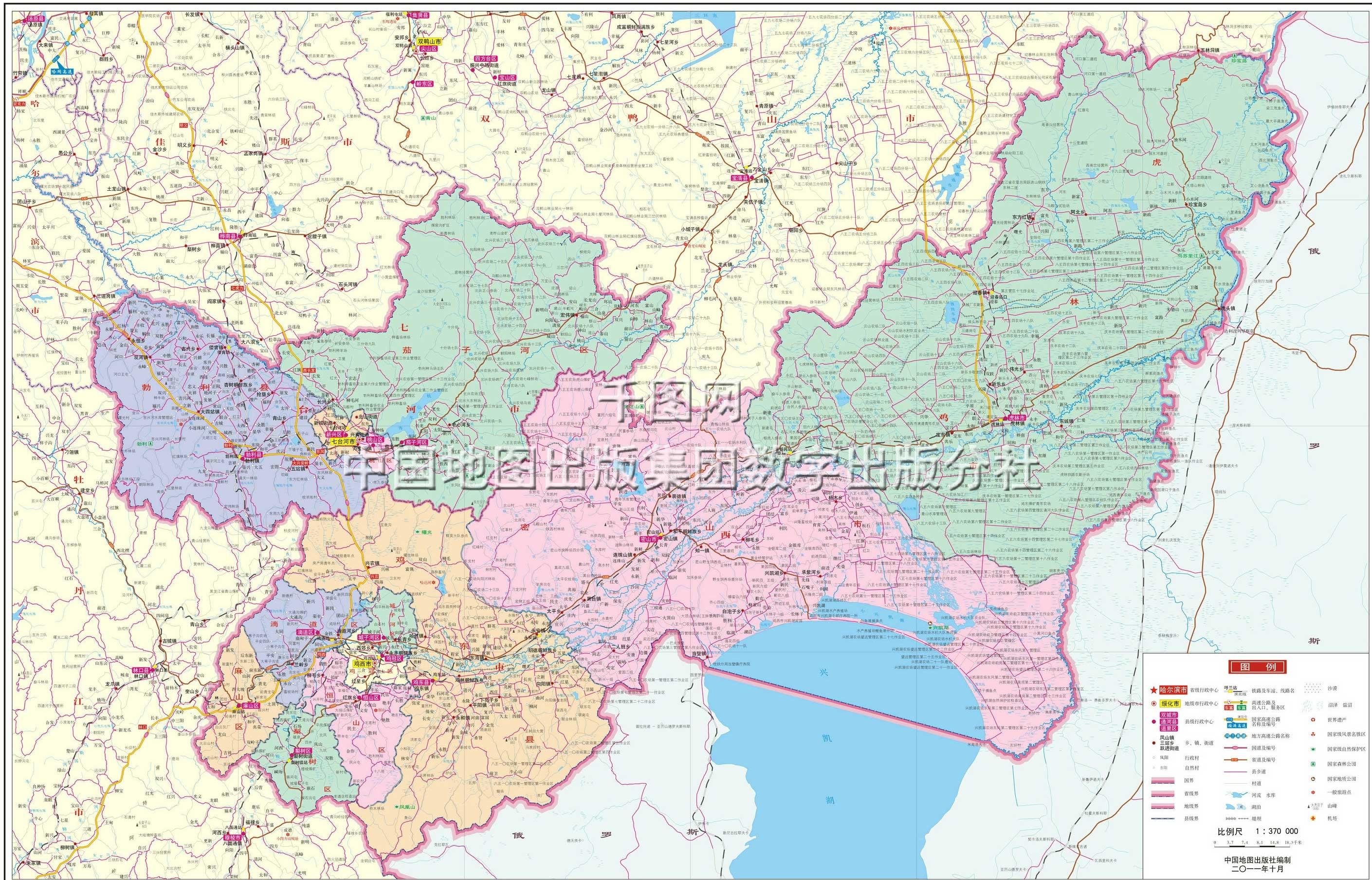七台河市地图高清版