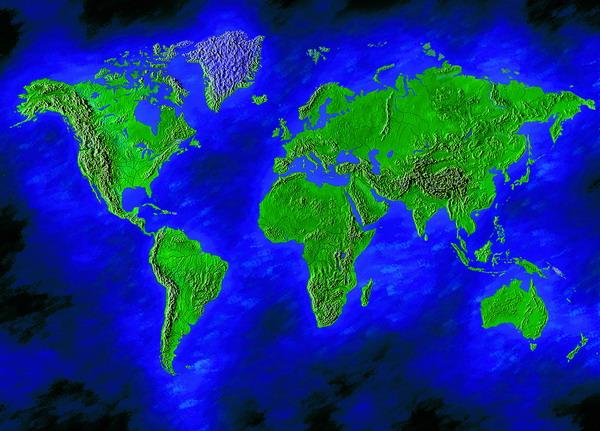 世界海洋和陆地