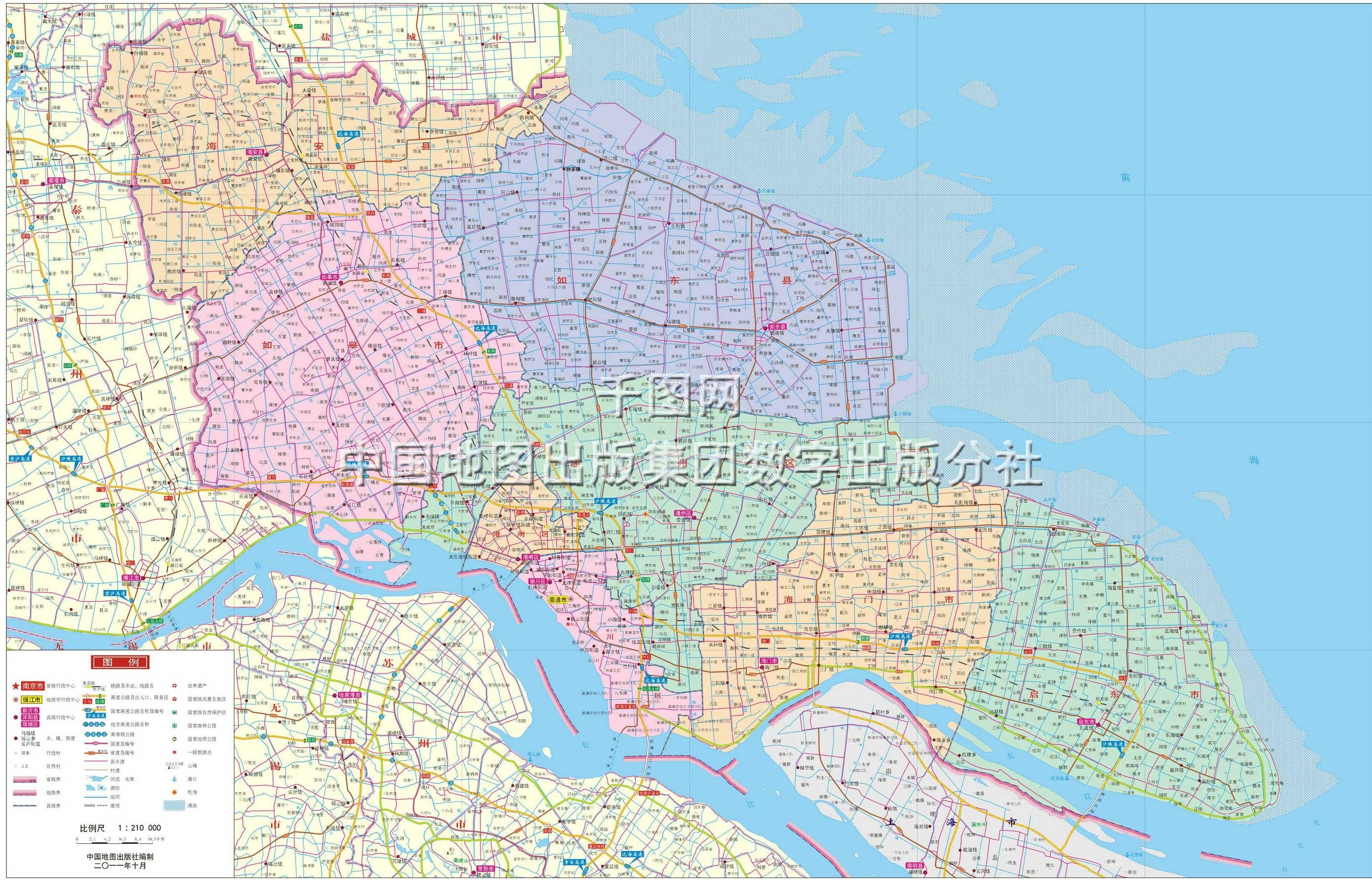 南通市地图高清版