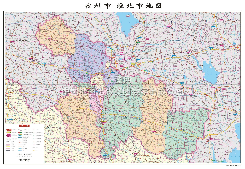 宿州四县一区地图