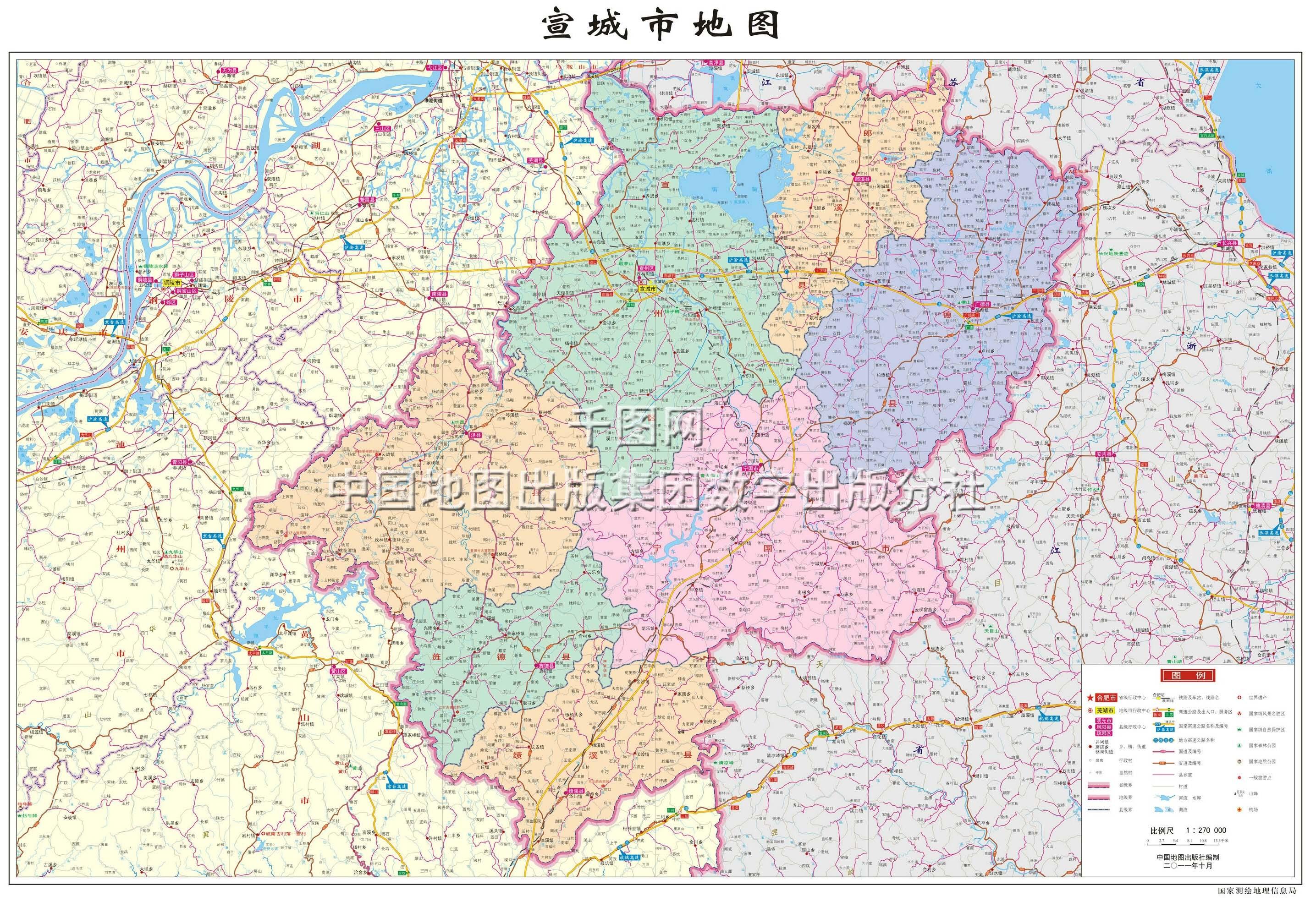 宣城市地图_宣城市地图查询